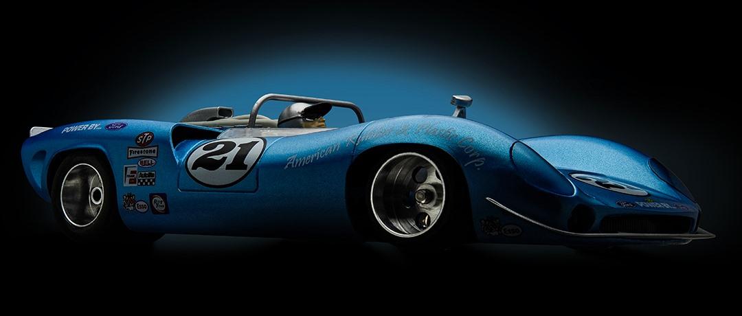 Electric Blue Can Am slot car
