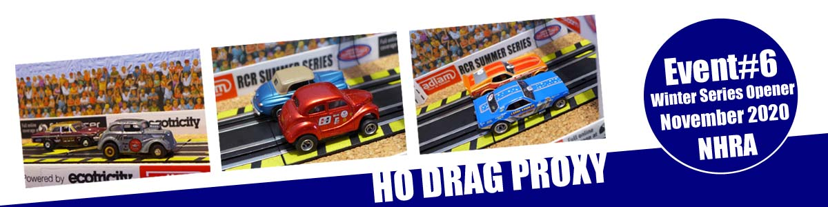 HO scale drag racers