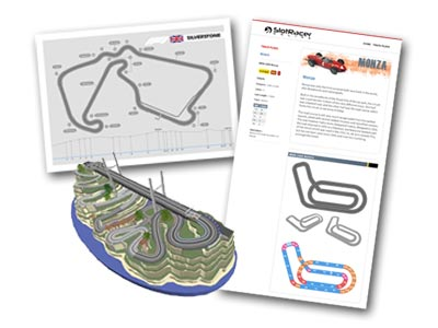 Monza, Silverstone and rally valley slot track plans