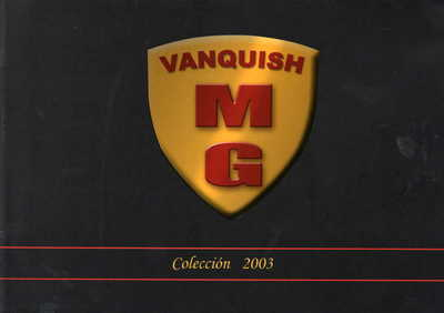 Vanquish Catalogue 2003 page 2