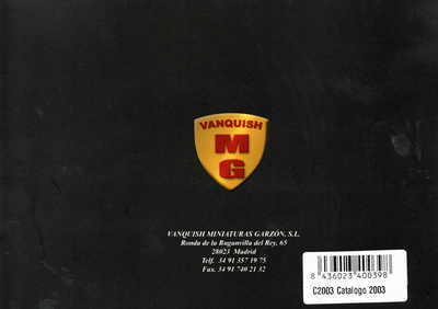 Vanquish Catalogue 2003 page 19