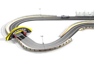 A Scalextric slot track