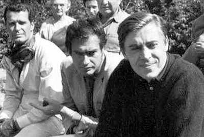 Brian Bedford watches on, with Frankenheimer and Garner