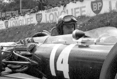 Graham Hill in the number 14 car