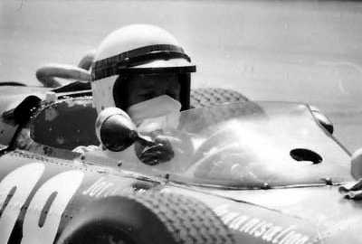 Close up of Scott Soddard in his BRM