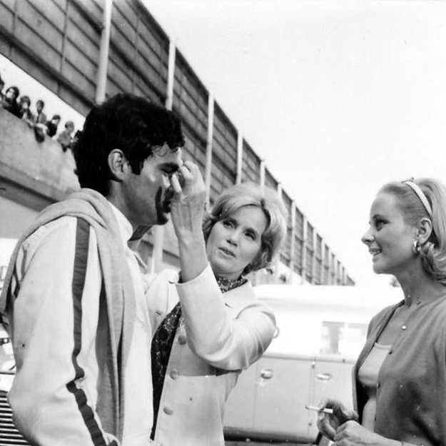 Eva Marie Saint, Geneviève Page, and Antonio Sabàto at Monza