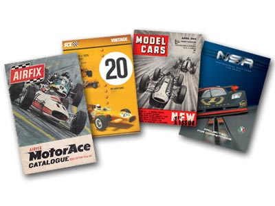Airfix, SCX, Model Cars, and NSR publication covers