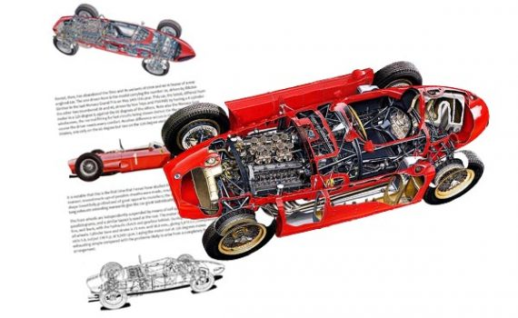 Lancia D50 cutaway