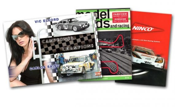 Fly and Ninco catalogues, and Model Roads magazine