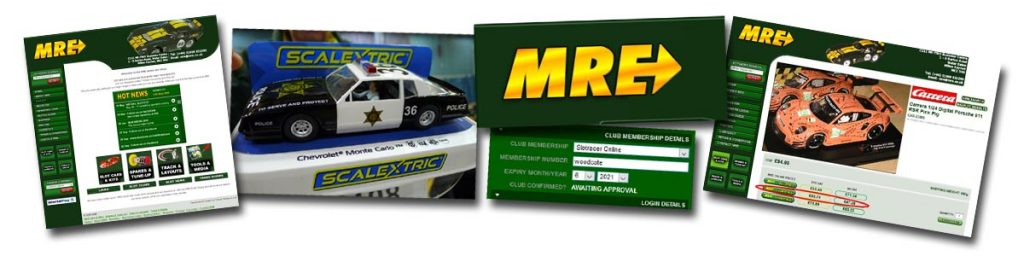 MRE website and slot cars