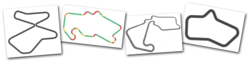 Silverstone Scalextric track plans