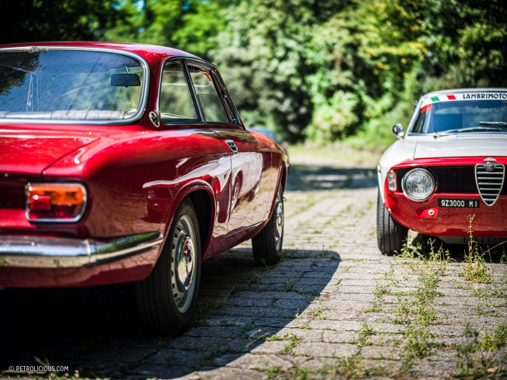 Alfa Romeo Giulia Sprint GTVs - at the temple of speed