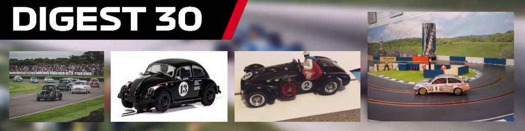 Digest 30, featuring the VW Beetle, an Allard J2, and Scalextric Sierra