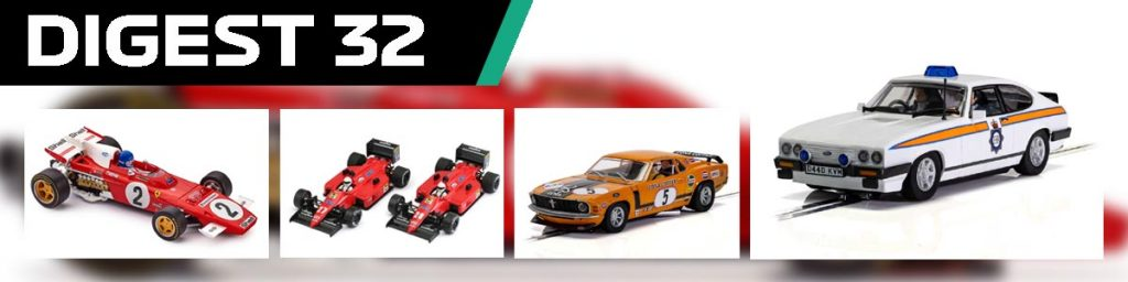 Digest 32 Ferrari and Ford slot cars