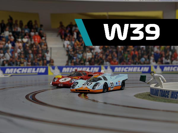 Week 39, four lane slot track with cars and grandstands