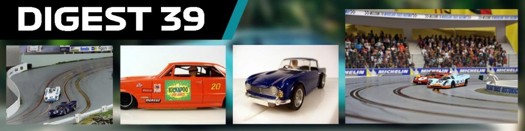 Digest 39, routed slot track and scratch built cars