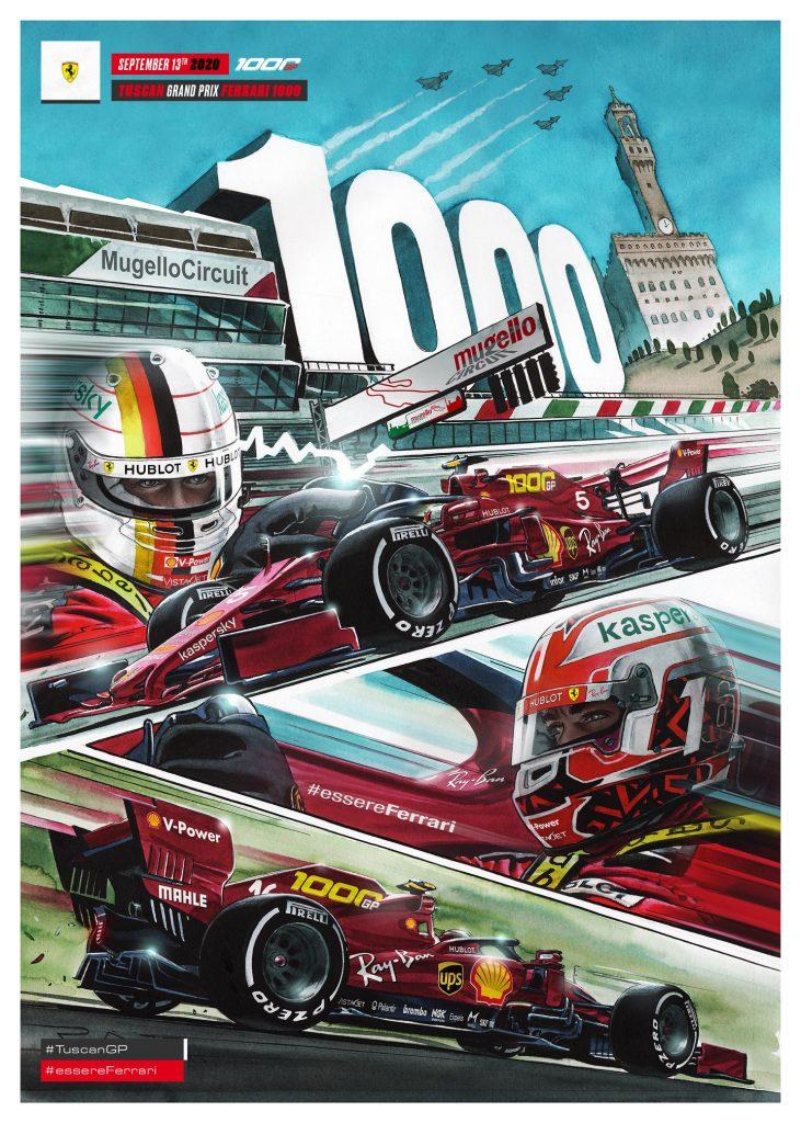 Ferrari's new livery for their 1,000th Grand Prix at Mugello