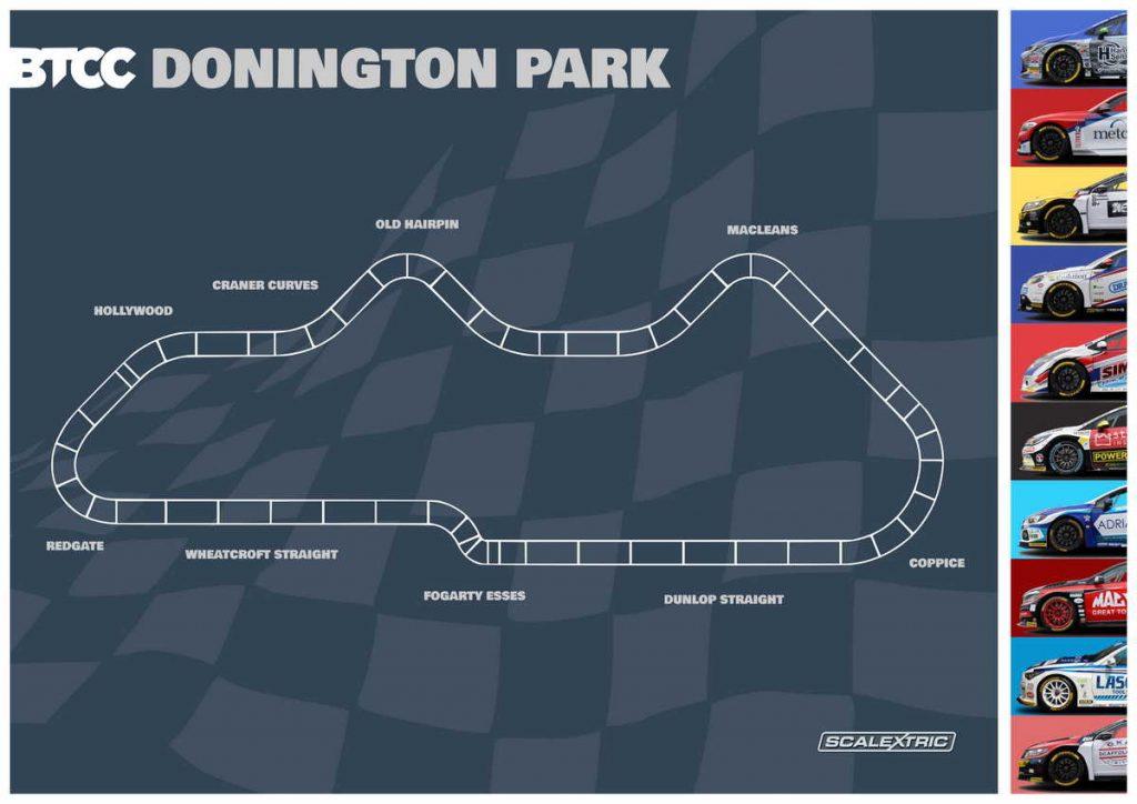 Donington Park Scalextric track plan