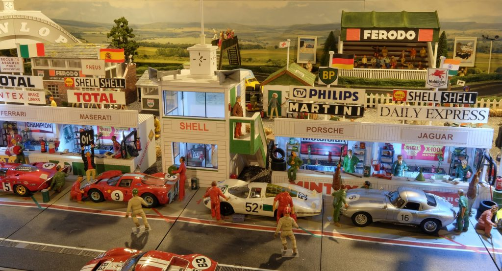 Pit lane from the Goodwood/Targa Florio track