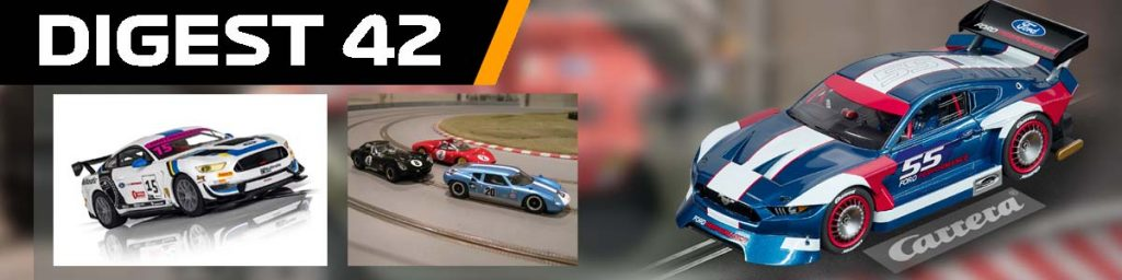 Digest 42, Mustangs from Scalextric and Carrera and a Lola GT