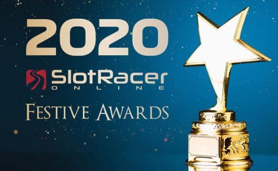 2020 SlotRacer Festive Award gold trophy