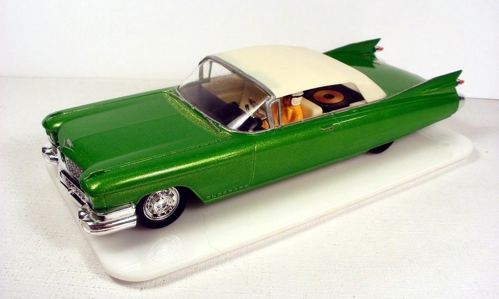 Bright green Cadillac Eldorado Biarritz with a cream roof