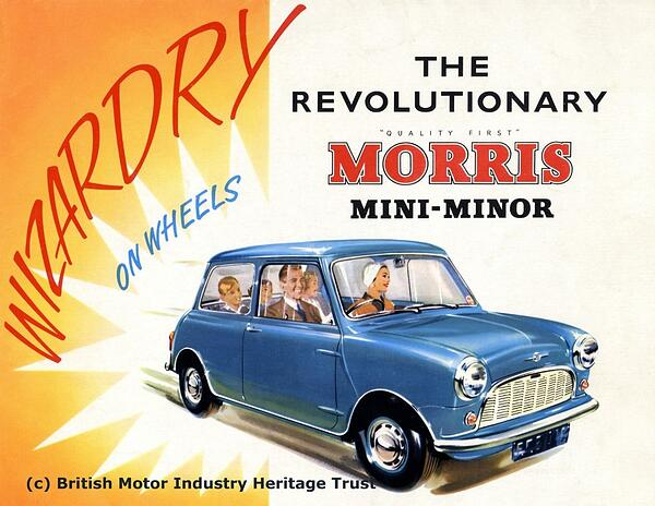 Morris Mini Minor sales poster