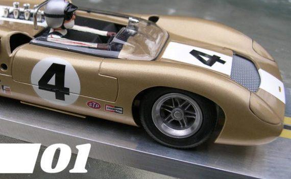 01, Champgne gold K&B Lola slot car