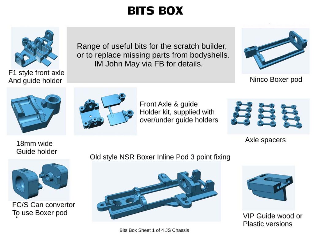 JS Chassis parts for scratch builders