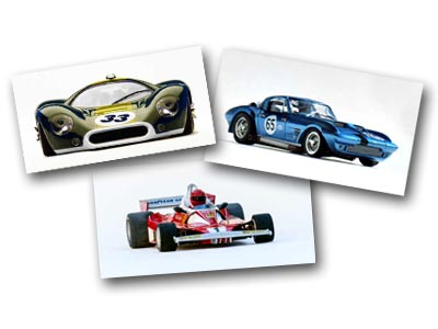 Slot car photographs