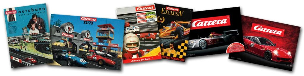 Carrera catalogue covers