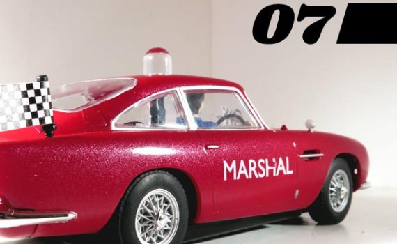 Aston Martin track marshal's car