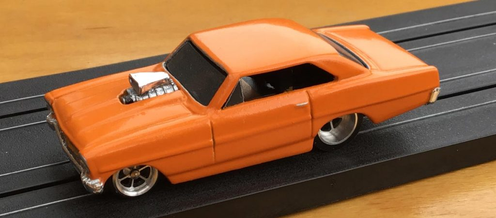 Orange HO scale dragster