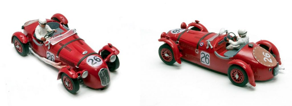 Red Frazer Nash High Speed Le Mans