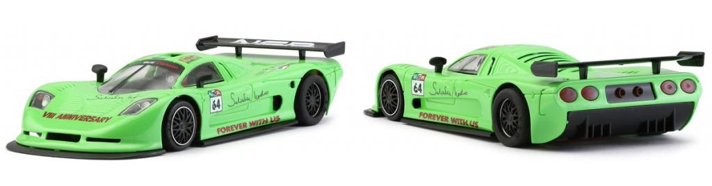 Light green NSR Mosler slot car