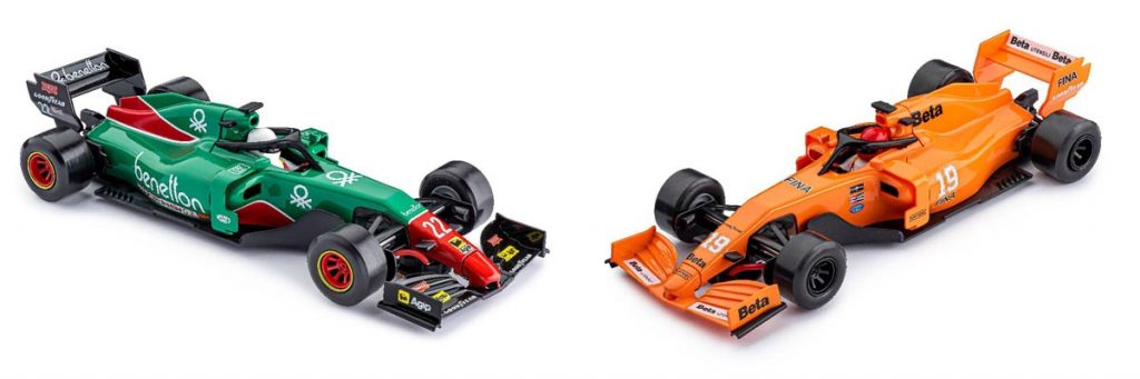 Green and orange Policar Monoposto liveries