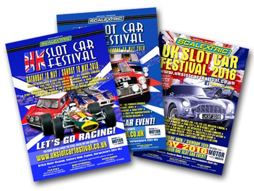 UK Slot Car Festival posters