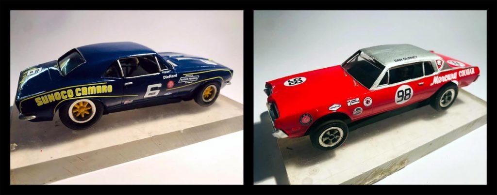 60s Revell Trans Am slot cars