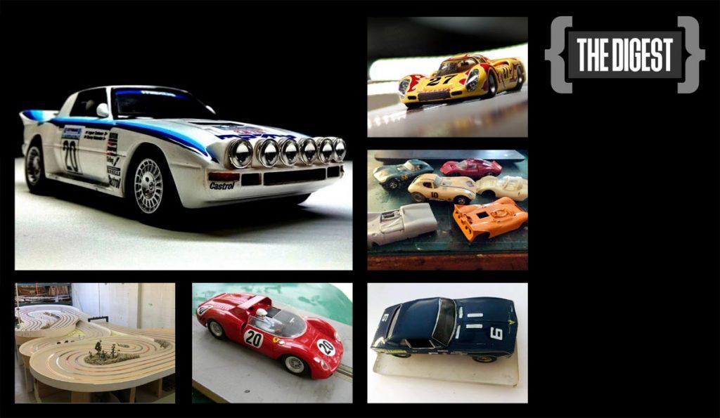 Digest #18, Maralic Mazda, Porsche 907, Strombecker cars, Revell makeover, and a four lane slot track