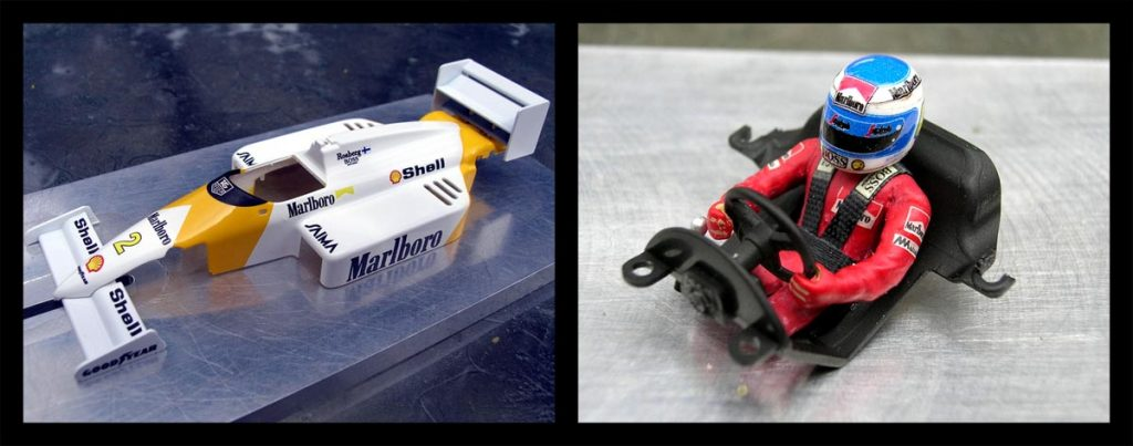 NSR McLaren F1 body shell, and driver figure