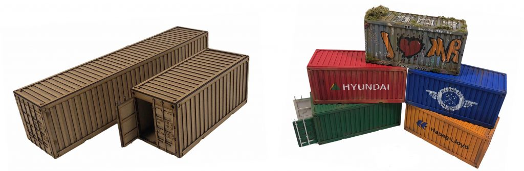 Magnetic Racing shipping container models