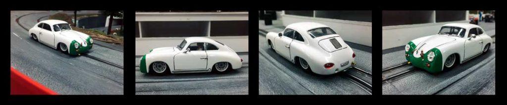 Sam Tordoff's white and green Porsche 356
