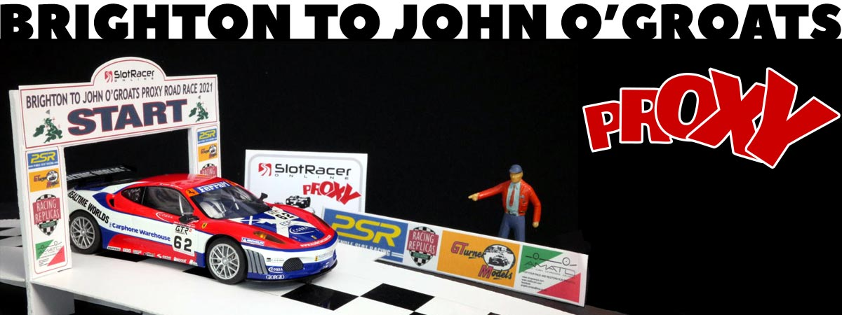 Ferrari on the start line at the Brighton to John O'Groats Road Race