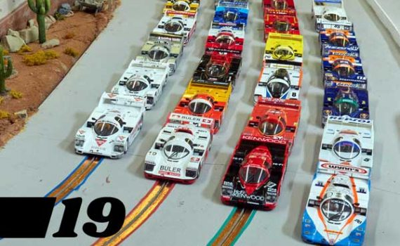 #19, the grid for the first round of the World Championship slot car proxy