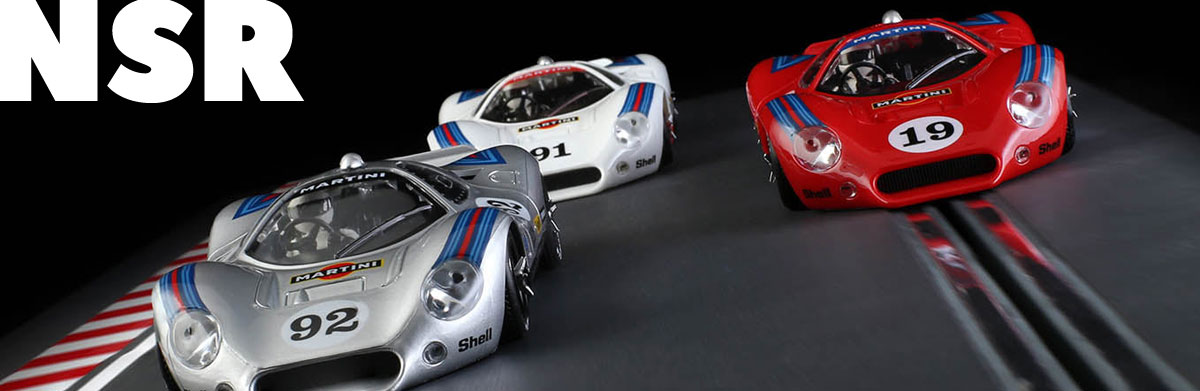 Three NSR Ford P68s in Martini liveries