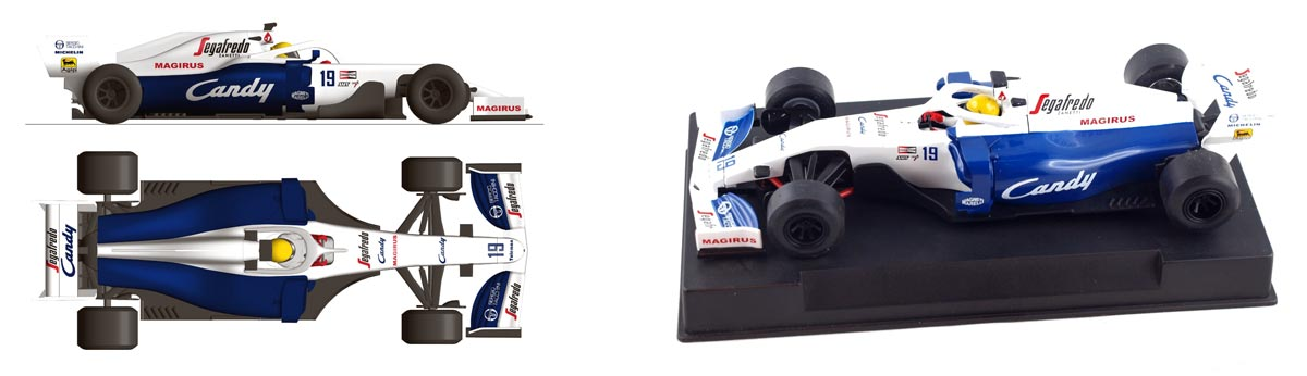 Toleman TG184 1984 with a blue and white livery