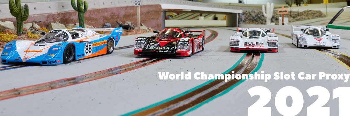 The top four cars in round 1 of the World Championship Proxy 2021