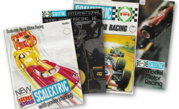 Scalextric Catalogue covers