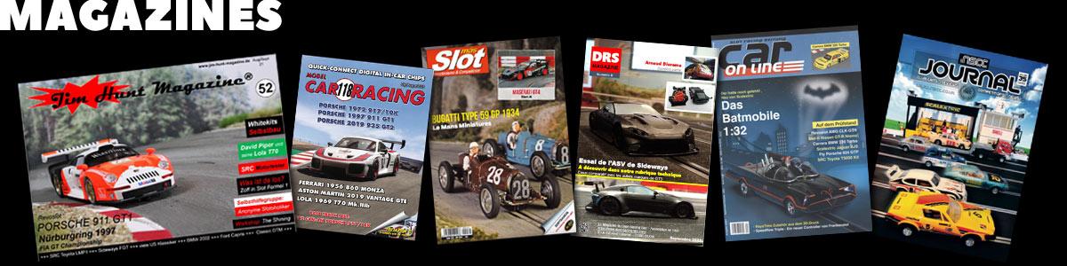 Slot car magazine covers