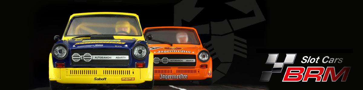 Two BRM Autobianchi A112 slot cars